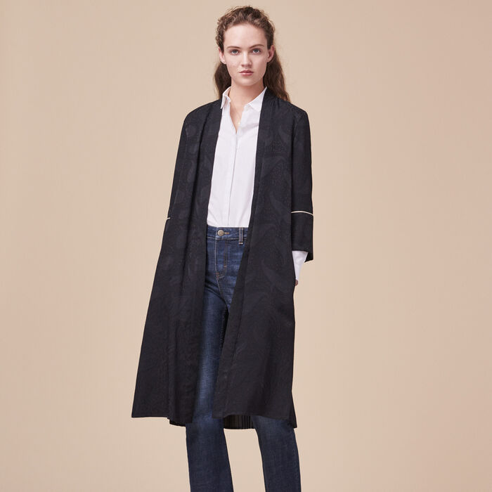 Manteau fluide esprit kimono -  - MAJE