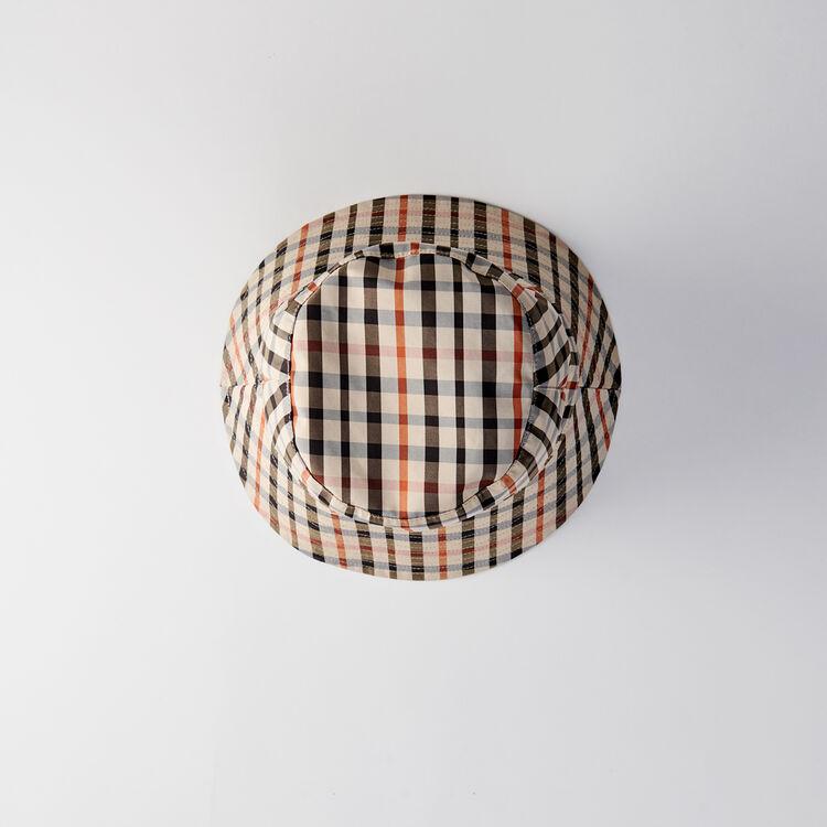 Bob réversible en coton à motif carreaux : Châles & Ponchos couleur MULTICO