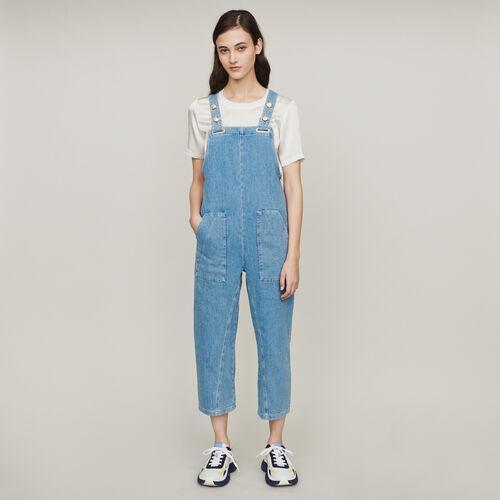 Combinaison en jean : Pantalons & Jeans couleur Denim