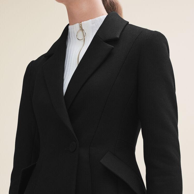Veste structurée à basque : Vestes couleur Black