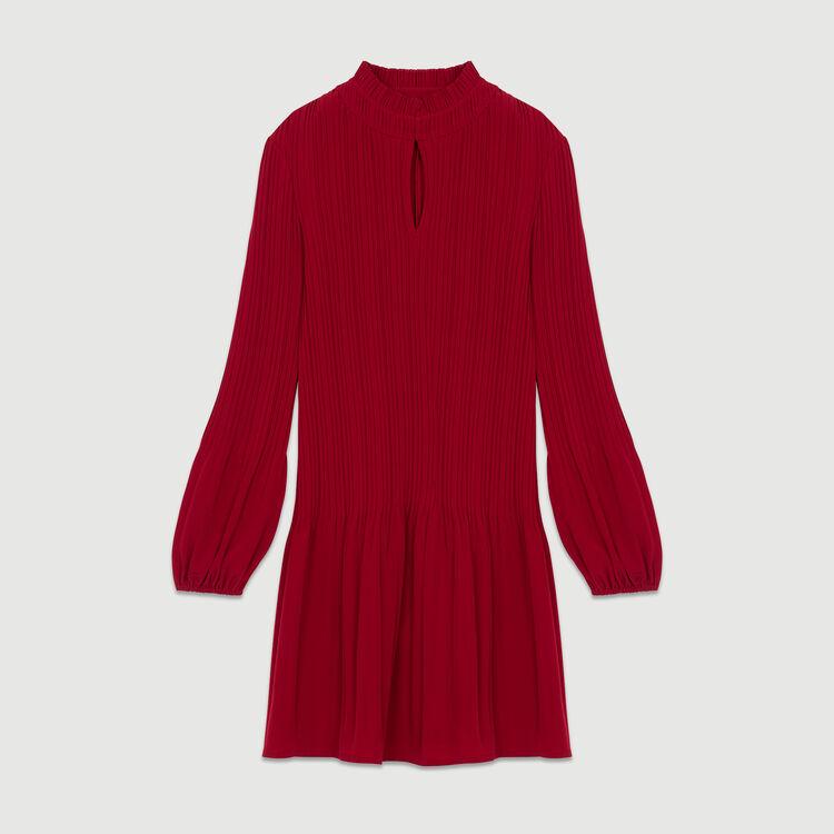 Robe courte plissée : Robes couleur Framboise
