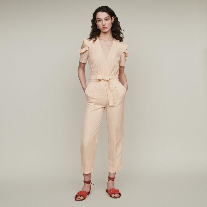 Combi-pantalon bimatière : Pantalons & Jeans couleur Mandarine