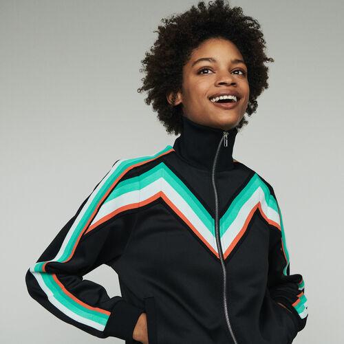 Veste de sport zippée : Pulls & Cardigans couleur Black