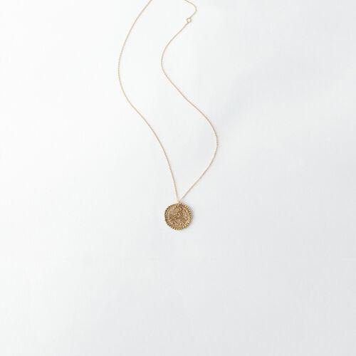 Collier Cancer signe du zodiaque : Bijoux couleur Vieux Laiton