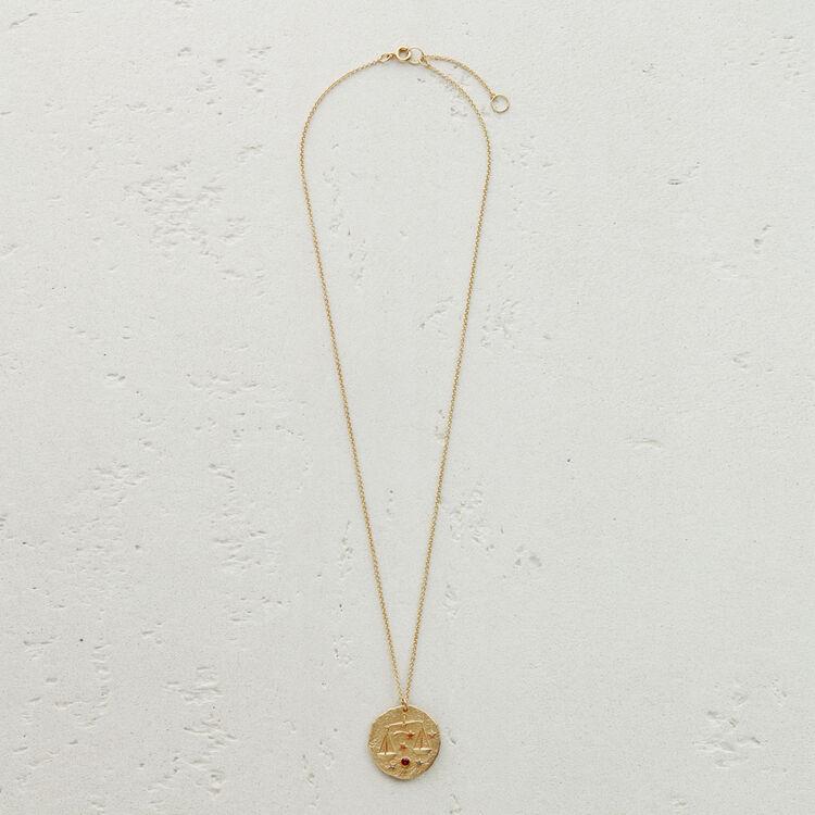 Collier Balance signe du zodiaque : Bijoux couleur OR