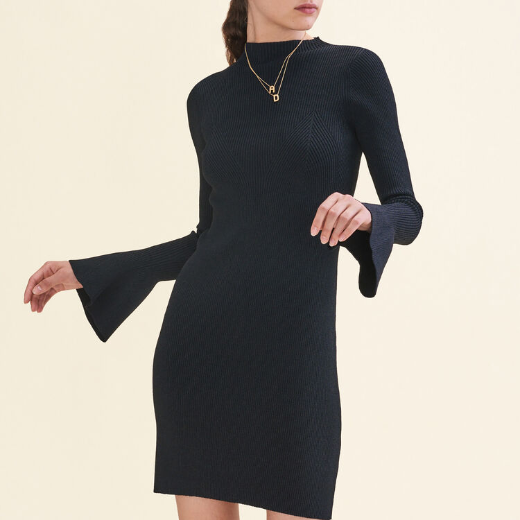 Robe en maille Lurex : Robes couleur Black