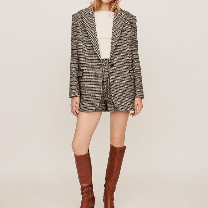 Manteau façon veste à carreaux - Voir tout - MAJE