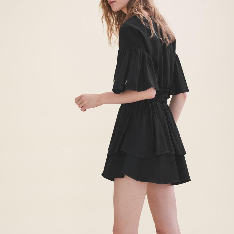 Robe fluide avec œillets : Robes couleur Black