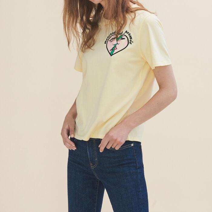 Tee-shirt brodé Mercredi -  - MAJE