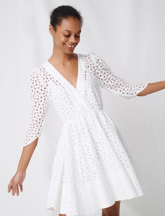 Robe patineuse en dentelle blanche - Robes - MAJE