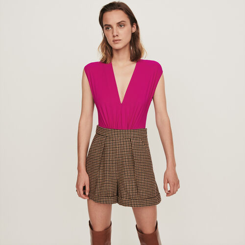 Body drapé Stretch : T-Shirts couleur Violet