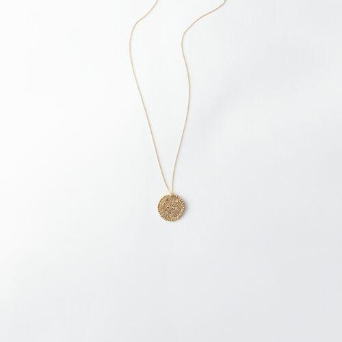Collier Poisson signe du zodiaque : Tous les accessoires couleur Vieux Laiton