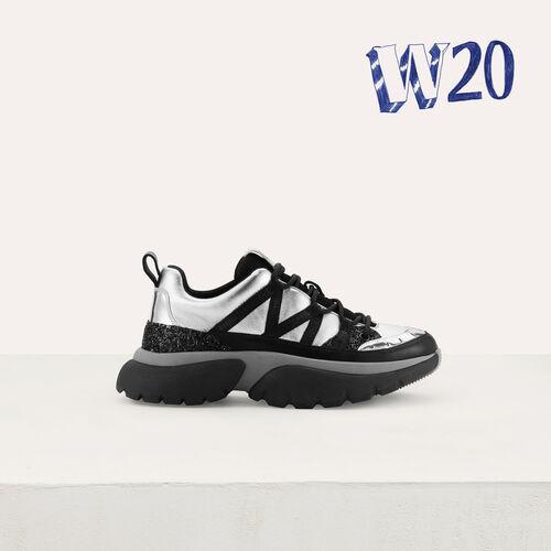 Sneakers W20 urbaines en cuir : Sneakers couleur Argent