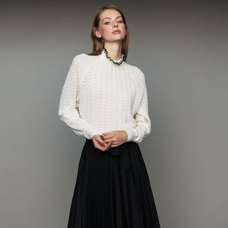 Pull en maille chevrons : Maille couleur Black