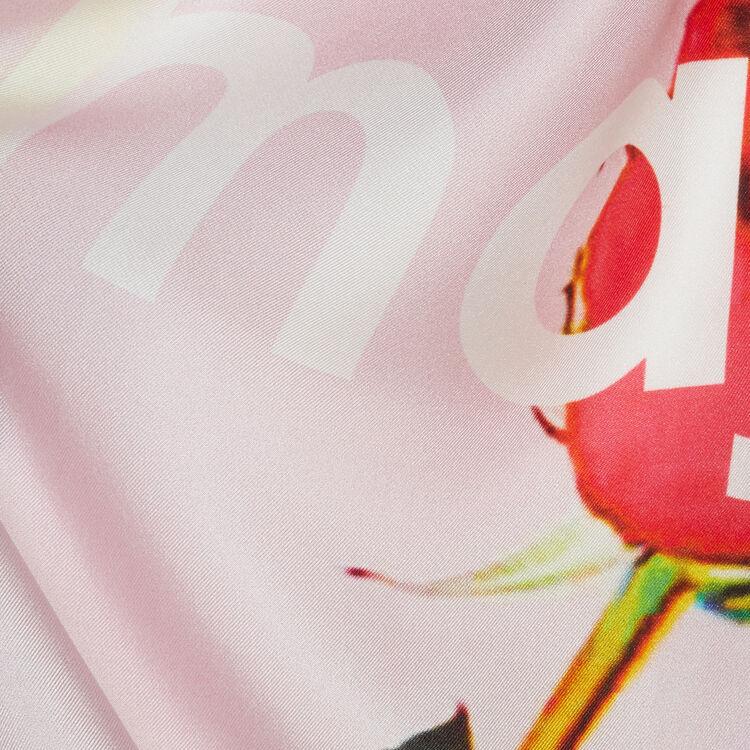 Carré de soie : Châles & Ponchos couleur Rose