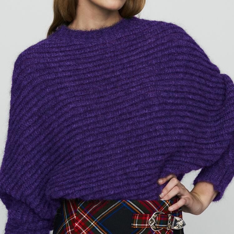 Pull court de coupe oversize : Maille couleur ECRU