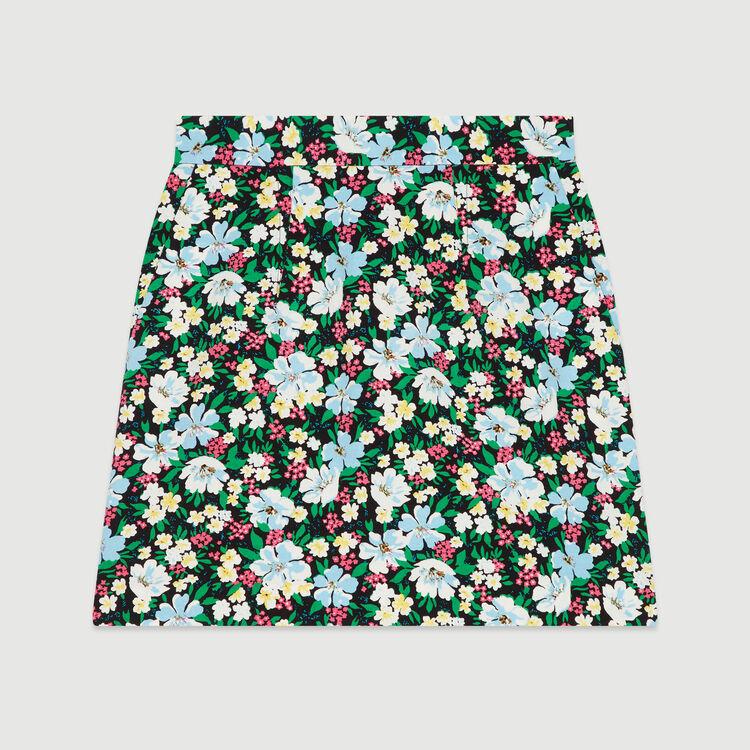 Jupe courte à imprimé floral : Jupes & Shorts couleur IMPRIME