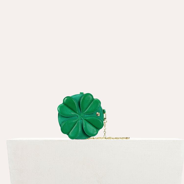 Besace ronde en cuir avec trèfle : Tout voir couleur Vert