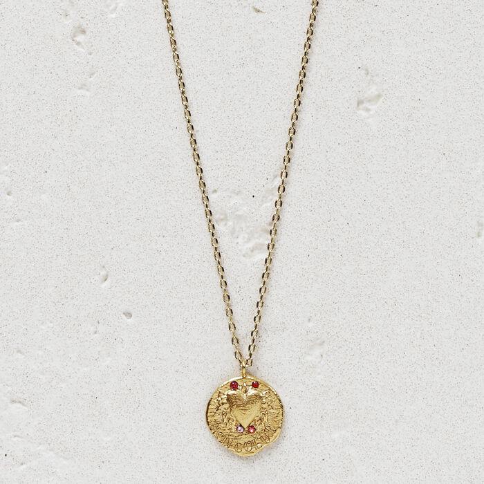 """Collier """"Mon coeur"""" en plaqué or : Bijoux couleur OR"""