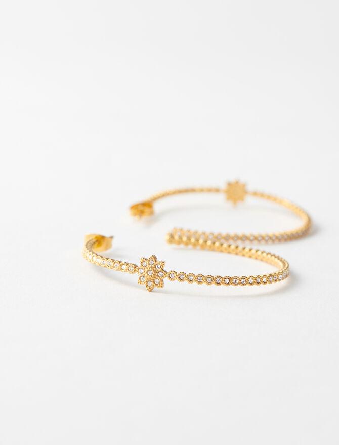 Boucles d'oreilles créoles dorées -  - MAJE