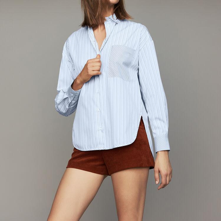 Chemise à rayures en coton : Chemises couleur Rayure