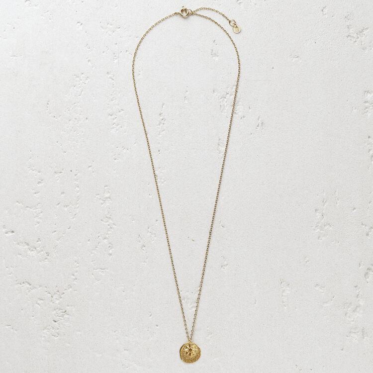 """Collier avec médaillon """"Mon étoile"""" : Bijoux couleur OR"""