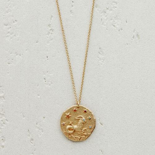 Collier Capricorne signe du zodiaque : Bijoux couleur OR