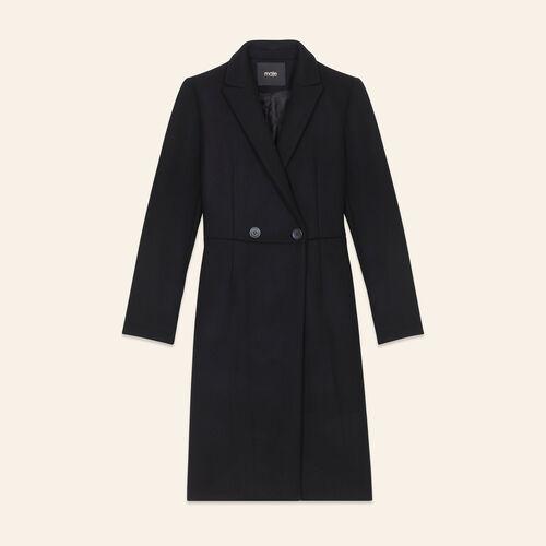Redingote mi-longue en laine - Manteaux - MAJE