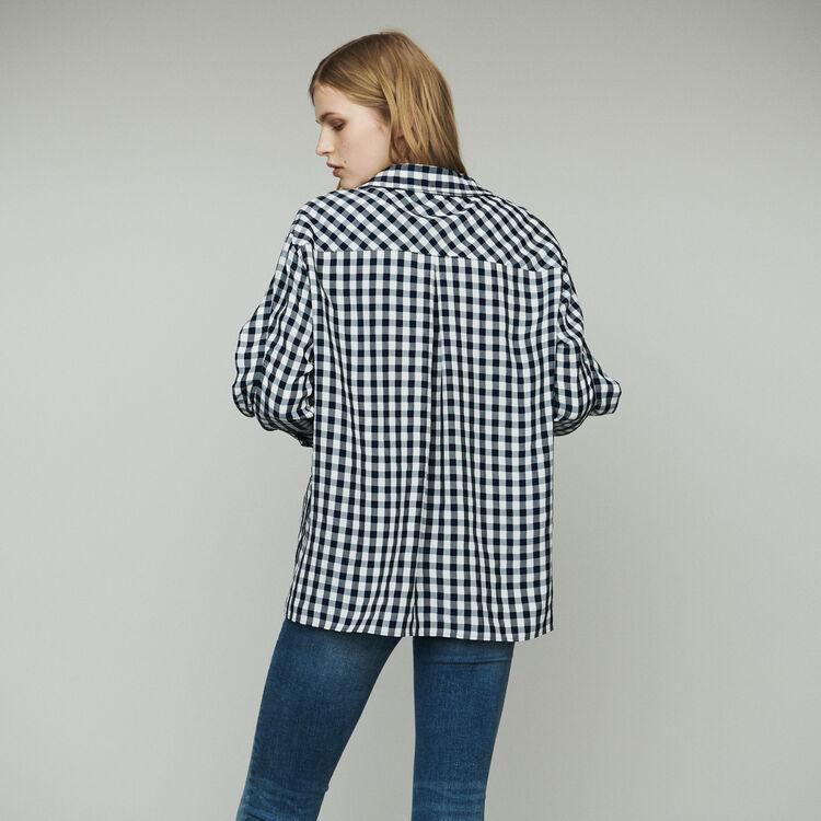 Chemise à imprimé vichy : Tops & Chemises couleur CARREAUX