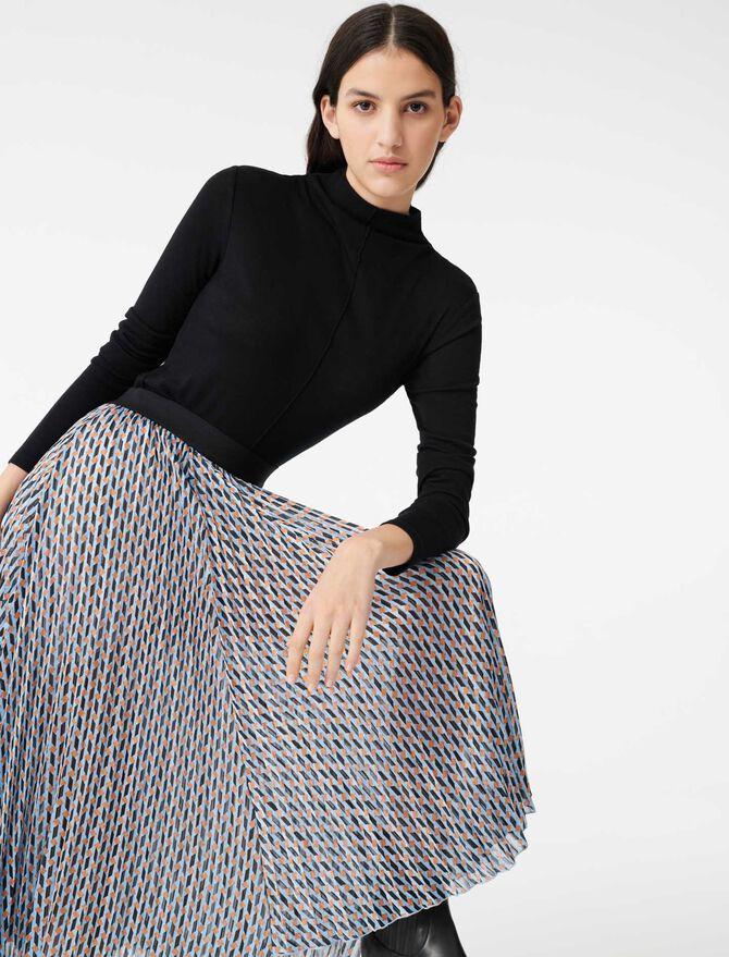 Jupe en jacquard et lurex imprimé - Jupes & Shorts - MAJE