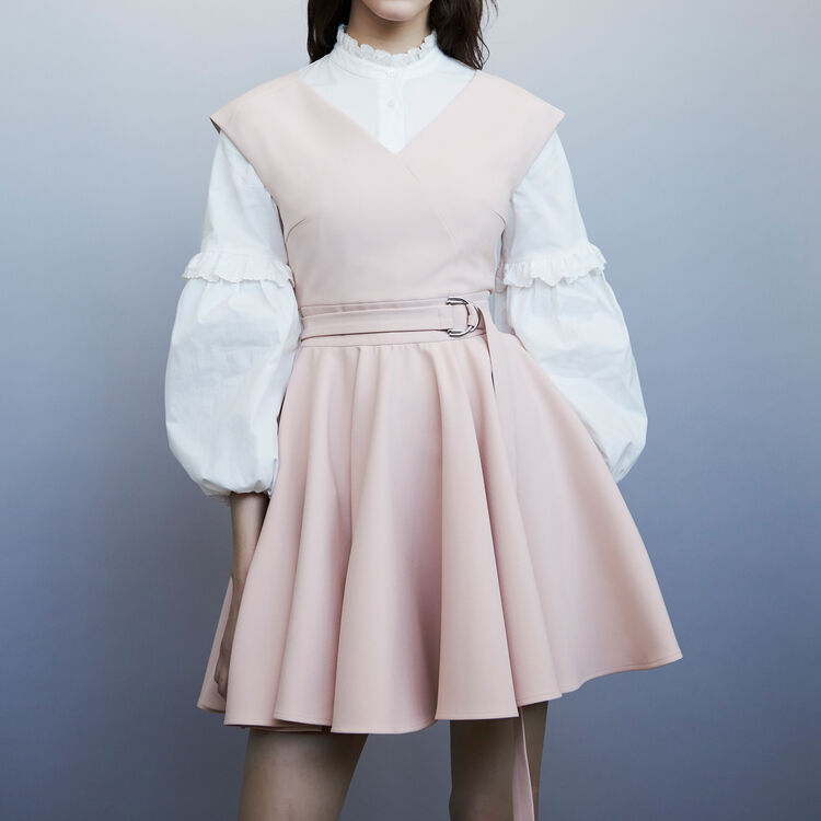 Robe patineuse sans manches : Robes couleur Rose