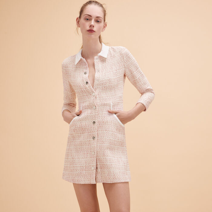 Robe boutonnée en jacquard - Dress Code - MAJE