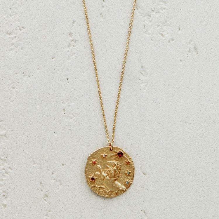 Collier Lion signe du zodiaque : Bijoux couleur OR