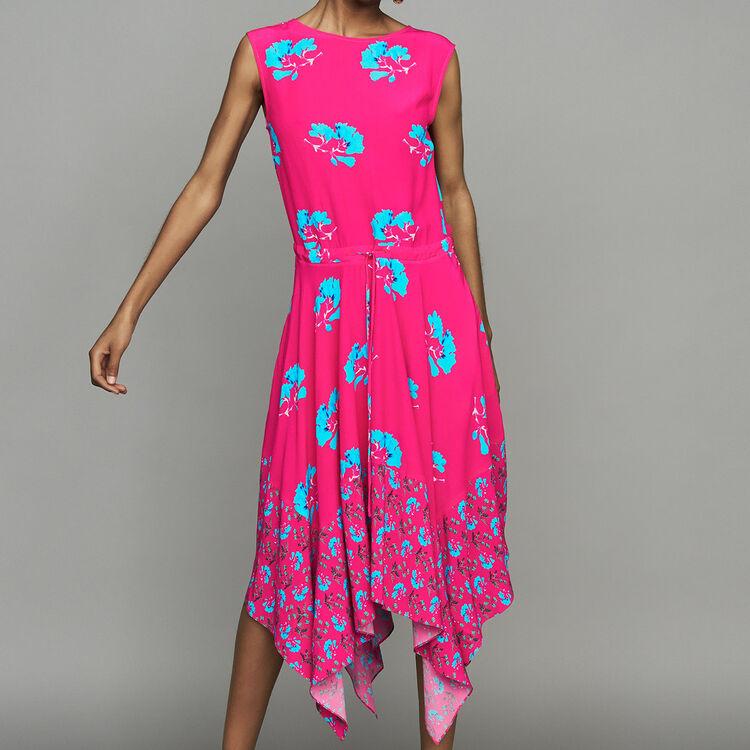 Robe longue sans manches imprimée : Robes couleur IMPRIME