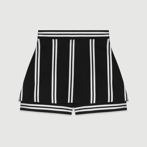 Short trompe-l'œil à rayures : Jupes & Shorts couleur RAYURE