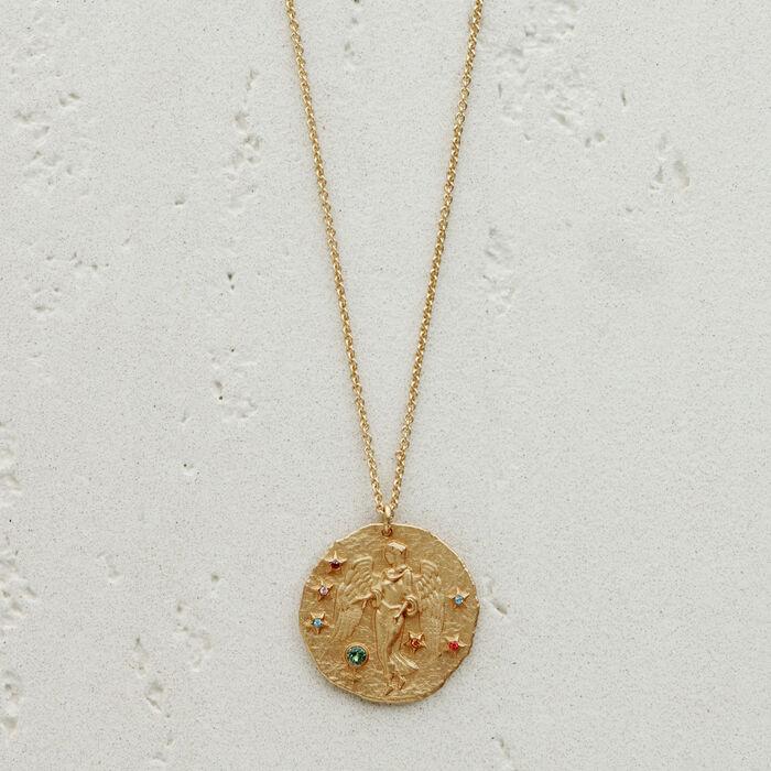 Collier Vierge signe du zodiaque : Bijoux couleur OR