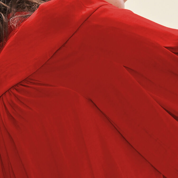 Chemise fluide en crêpe : Tops couleur Rouge