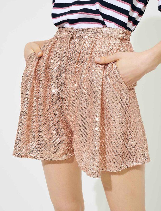 Short à sequins - Jupes & Shorts - MAJE