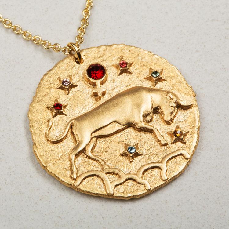 Collier Taureau signe du zodiaque : Bijoux couleur OR