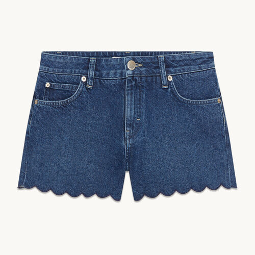 Short en denim - null - MAJE