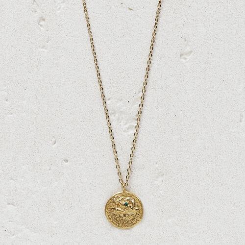 """Collier avec médaillon """"Mon chou"""" : Bijoux couleur OR"""