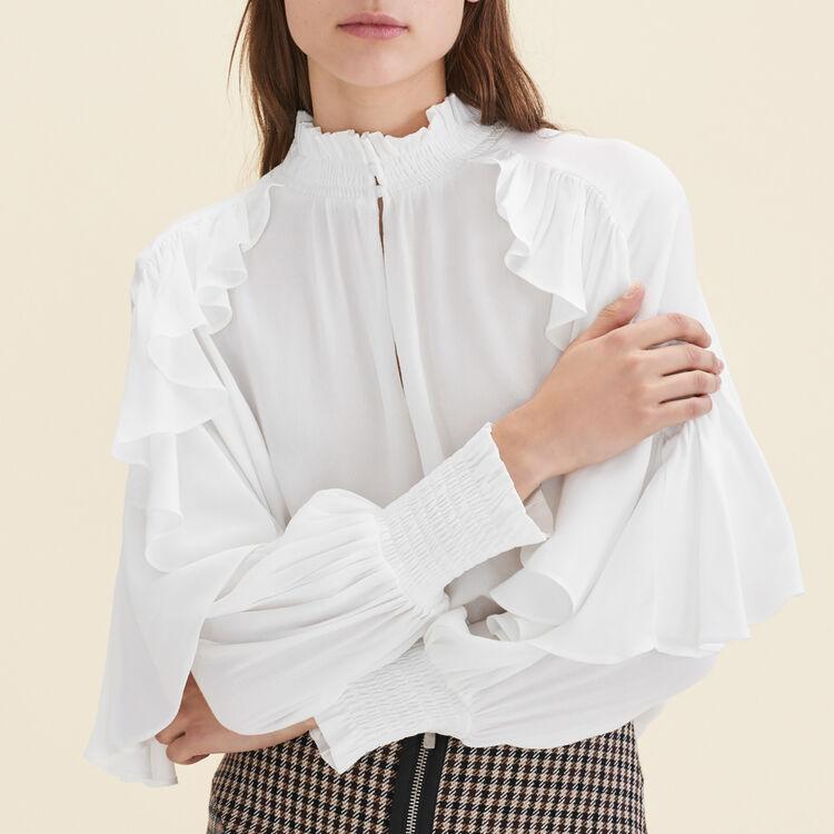 Blouse fluide avec volants - Chemises - MAJE