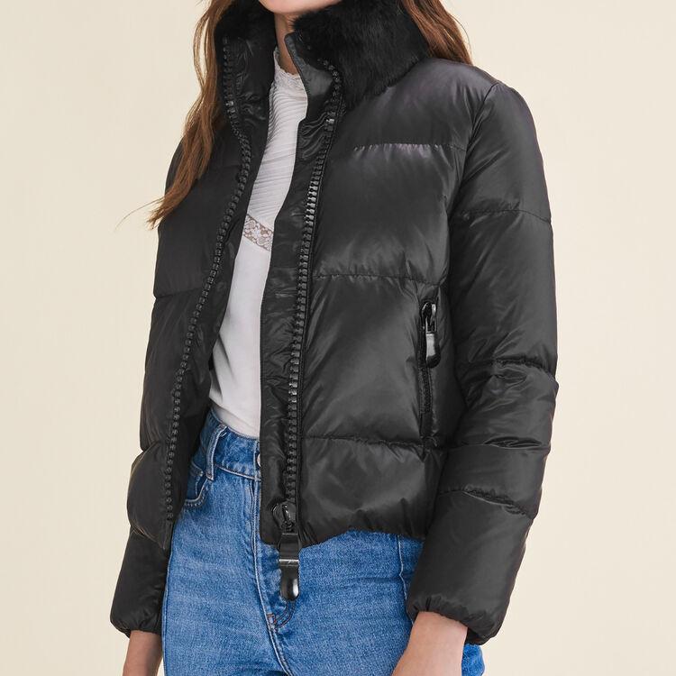 Doudoune courte matelassée : Manteaux couleur Black