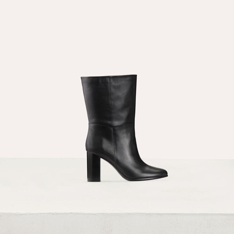 Bottines en cuir souple : Nouvelle Collection couleur Black