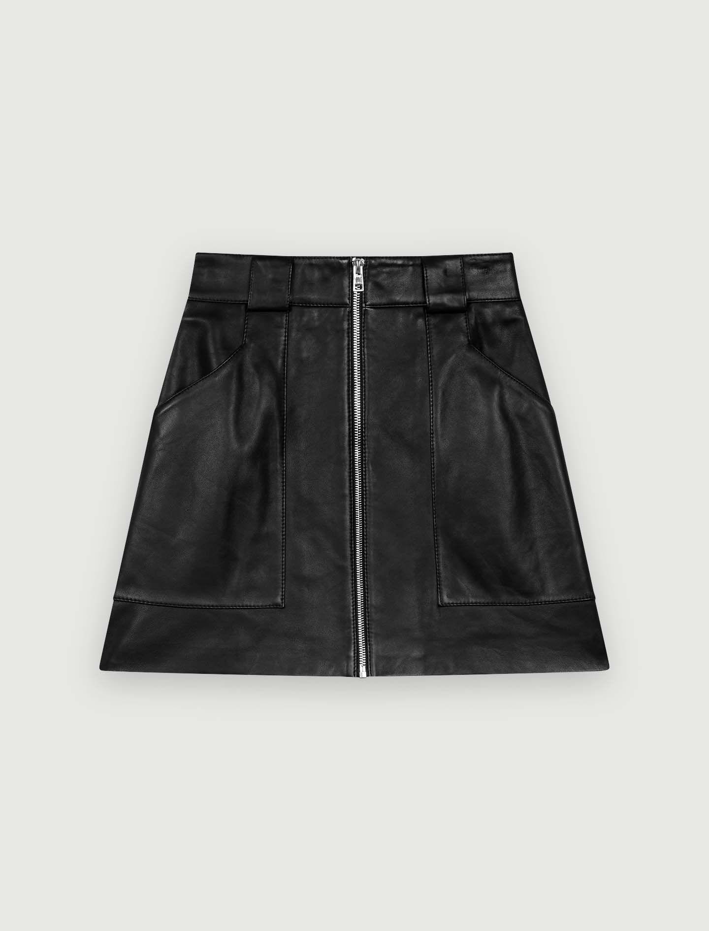 Maje Jupe en jean coton 34 (XS, T0)