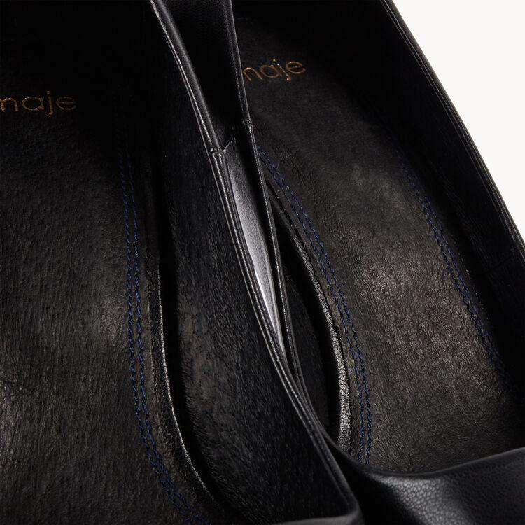 Escarpins en cuir : Accessoires couleur Black