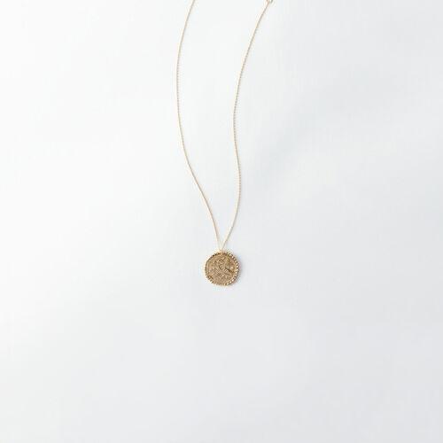 Collier Sagittaire signe du zodiaque : Tous les accessoires couleur Vieux Laiton