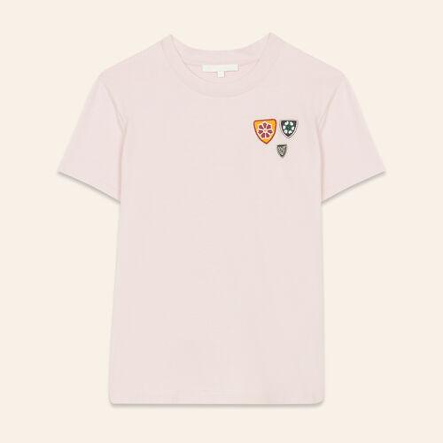 Tee-shirt basique en coton : T-shirts couleur ROSE