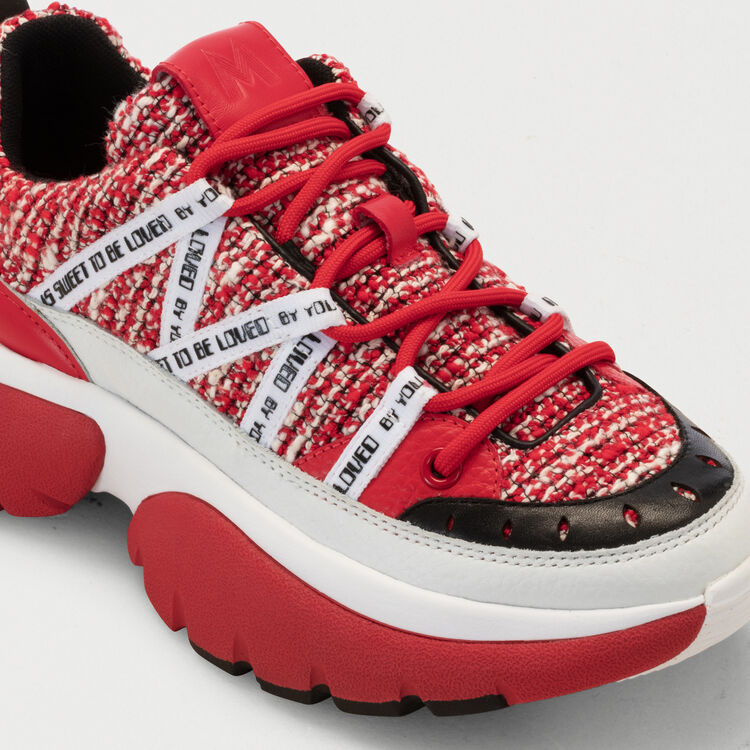 Sneakers W20 urbaines en tweed : Sneakers couleur Rouge