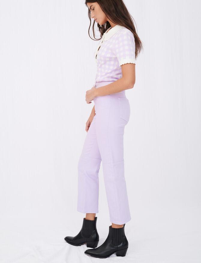 Jean droit de couleur à découpes - Pantalons & Jeans - MAJE